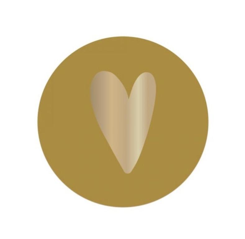 Stickervel hart - Geel-1