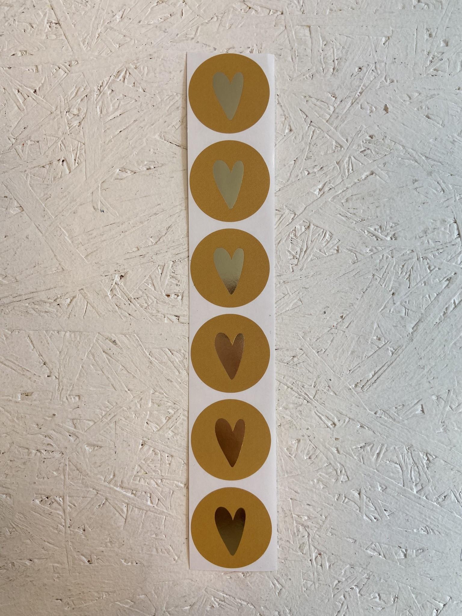 Stickervel hart - Geel-2