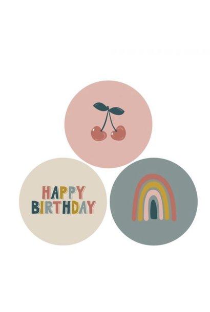 Stickervel - Happy