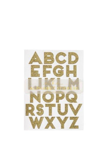 Alfabet stickers goud