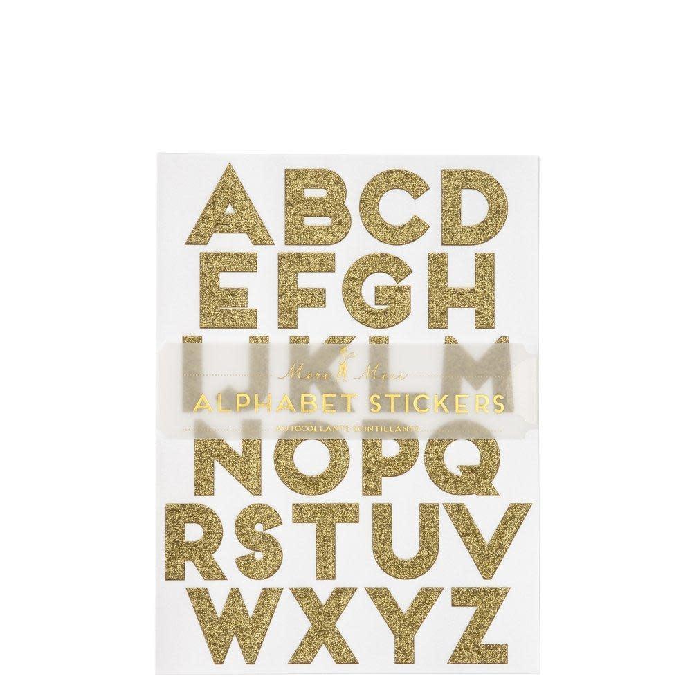 Alfabet stickers goud-1
