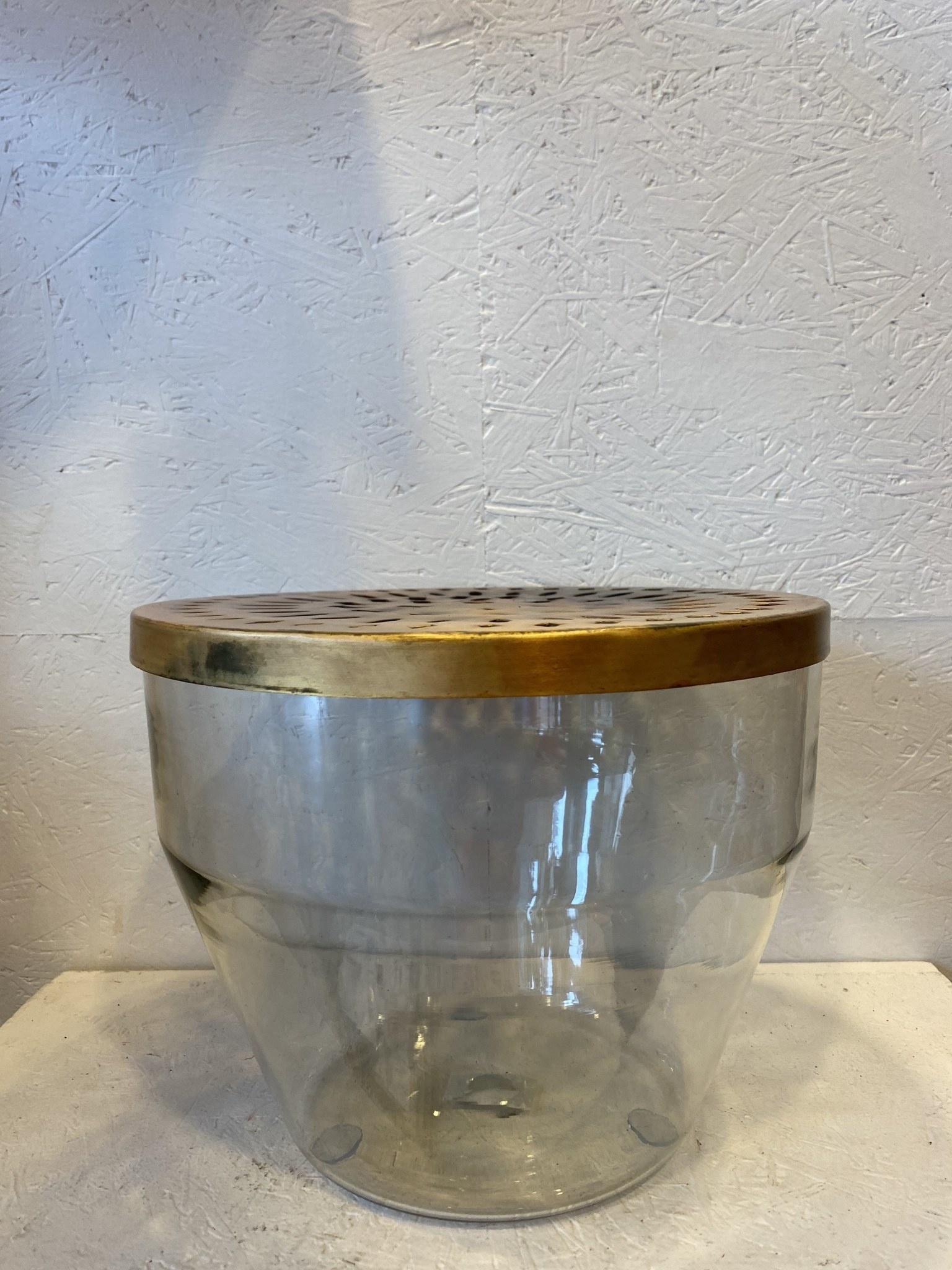 Glazen Vaas Met Metalen Deksel - Bloomingville-2