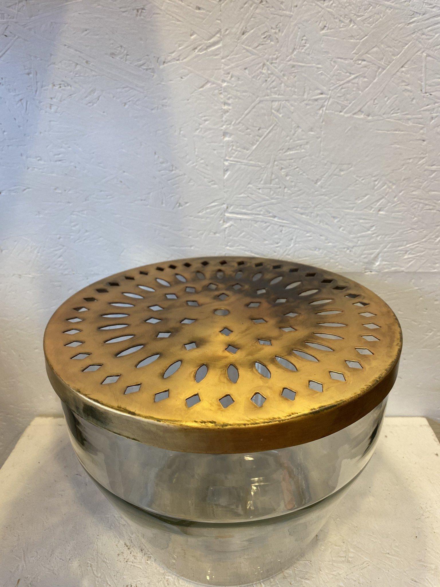 Glazen Vaas Met Metalen Deksel - Bloomingville-3