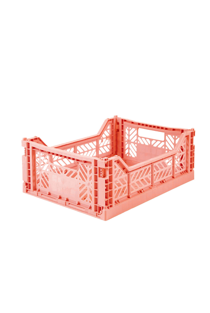 Folding Crate Salmon Pink - Medium