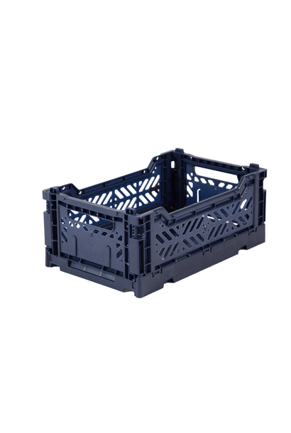 Folding Crate Navy Blue - Small