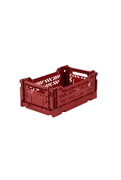 Folding Crate Dark Red - Small