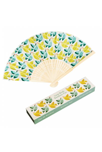 Waaier Love Birds Bamboo Fan