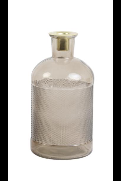Fles / Kandelaar Elisa Transparant Glas Oudroze
