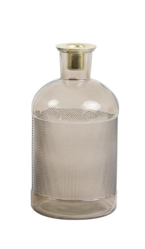 Fles / Kandelaar Elisa Transparant Glas Oudroze-1