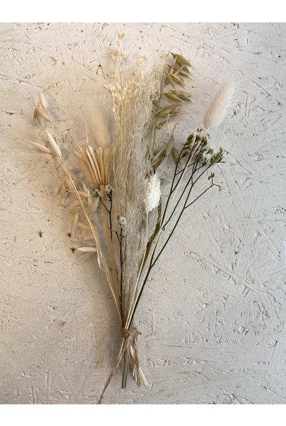 Mini Driedflower Bouquet White