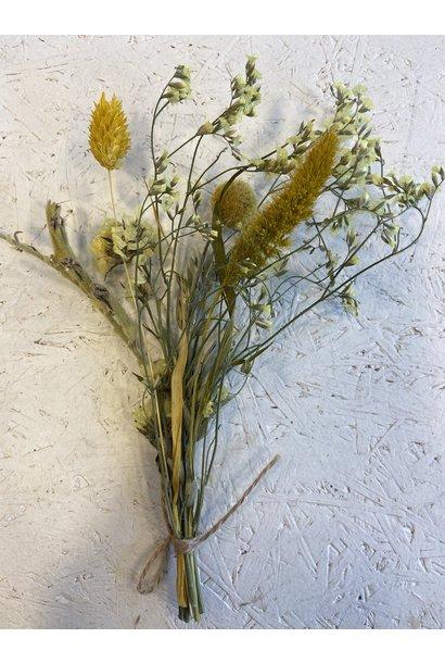 Mini Driedflower Bouquet Yellow