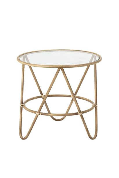 Coffee Table metal - Rattan look