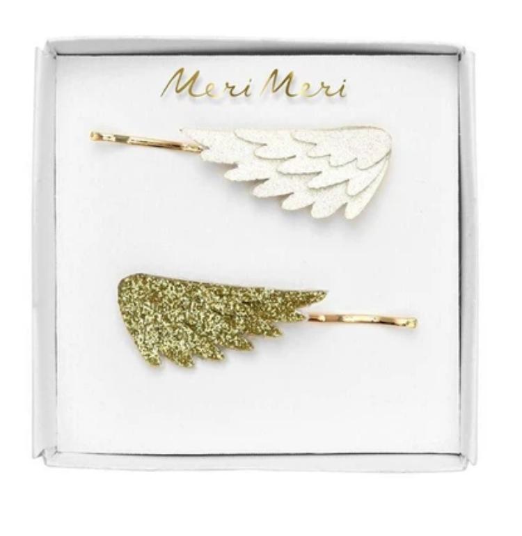 Haarpinnen Glitter vleugels-1