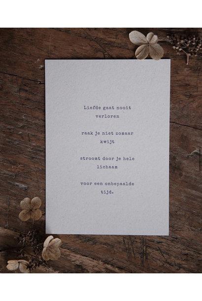 Postcard 'Eeuwige liefde'