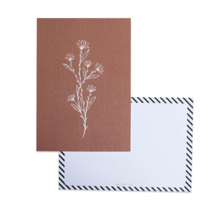 Botanical Kaart Bruin - Bystudio Steef-1