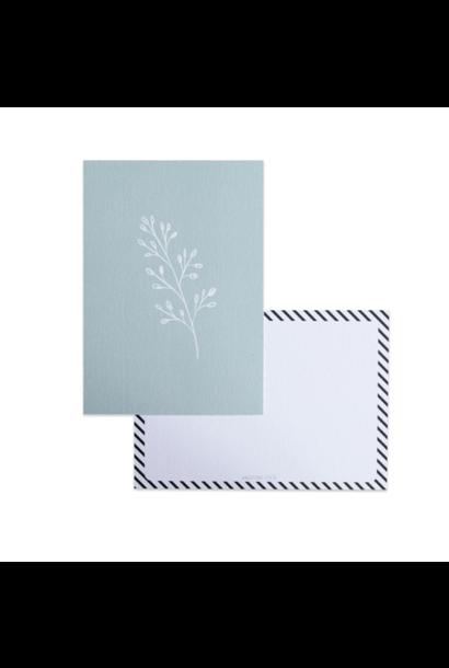 Botanical Card Blue