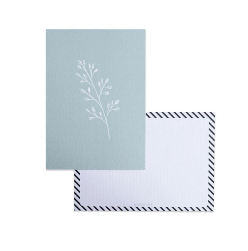 Botanical Kaart  Blauw - Bystudio Steef-1