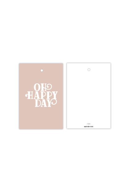 Cadeaulabel Oh Happy Day