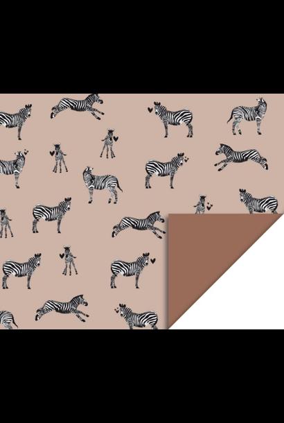 Dubbelzijdig inpakpapier Zebra