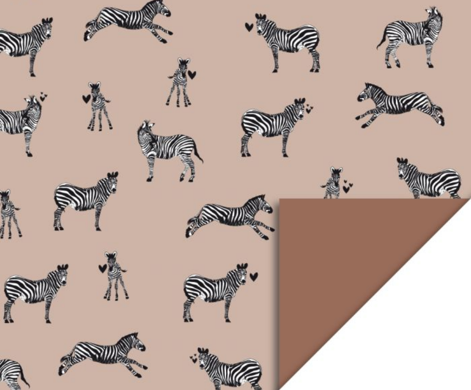 Dubbelzijdig inpakpapier Zebra-1