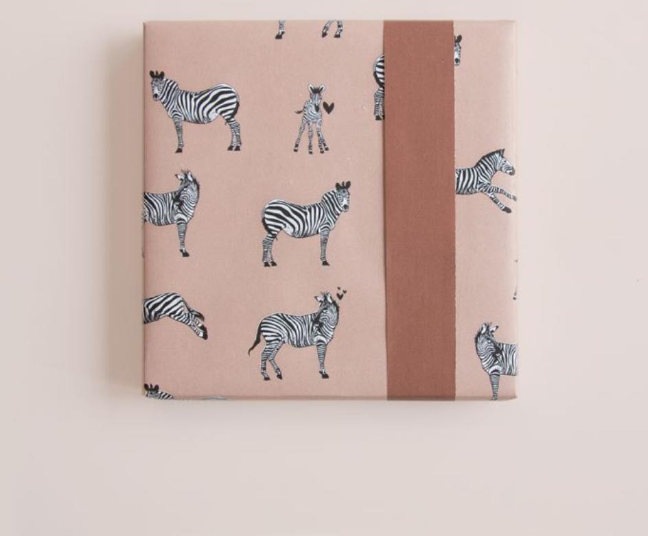 Dubbelzijdig inpakpapier Zebra-2
