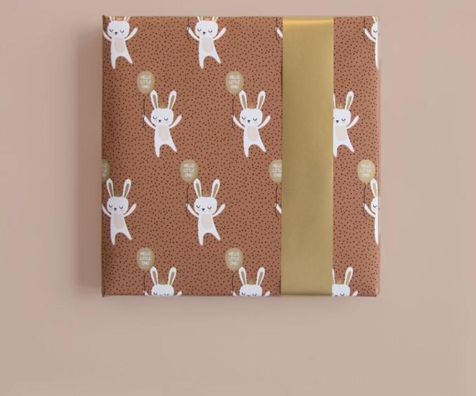 Dubbelzijdig inpakpapier Baby Bunny-2