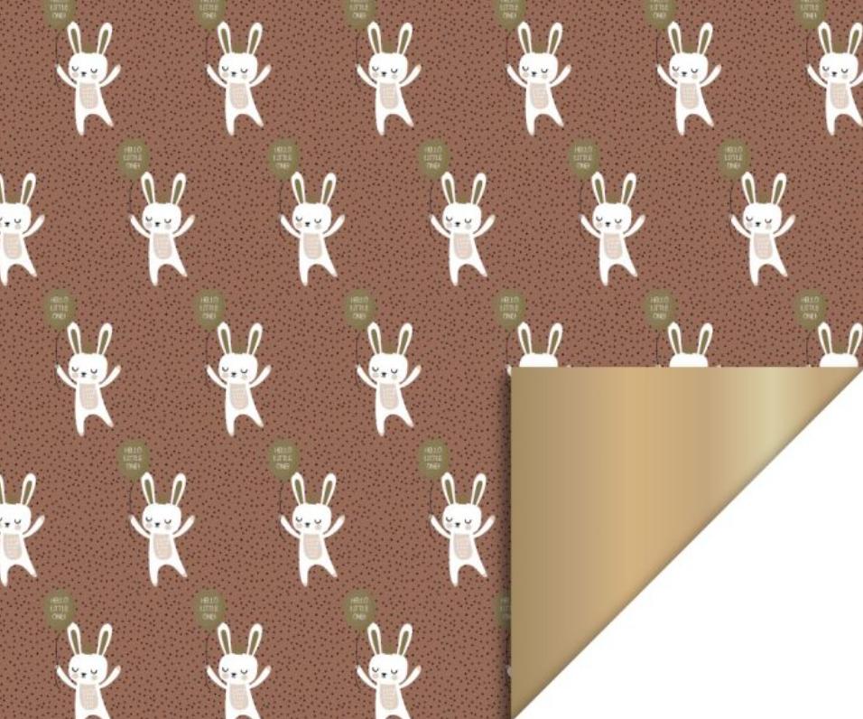 Dubbelzijdig inpakpapier Baby Bunny-1