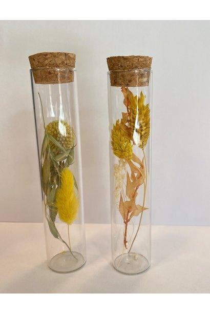 Bloemengeluk In Flesje Geel - Small