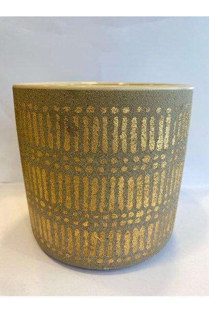 Bloempot Gouden Details - Medium