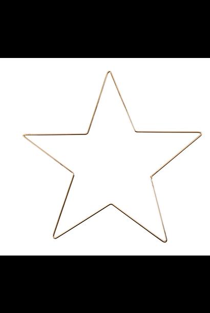 Metalen Ster Goud XS