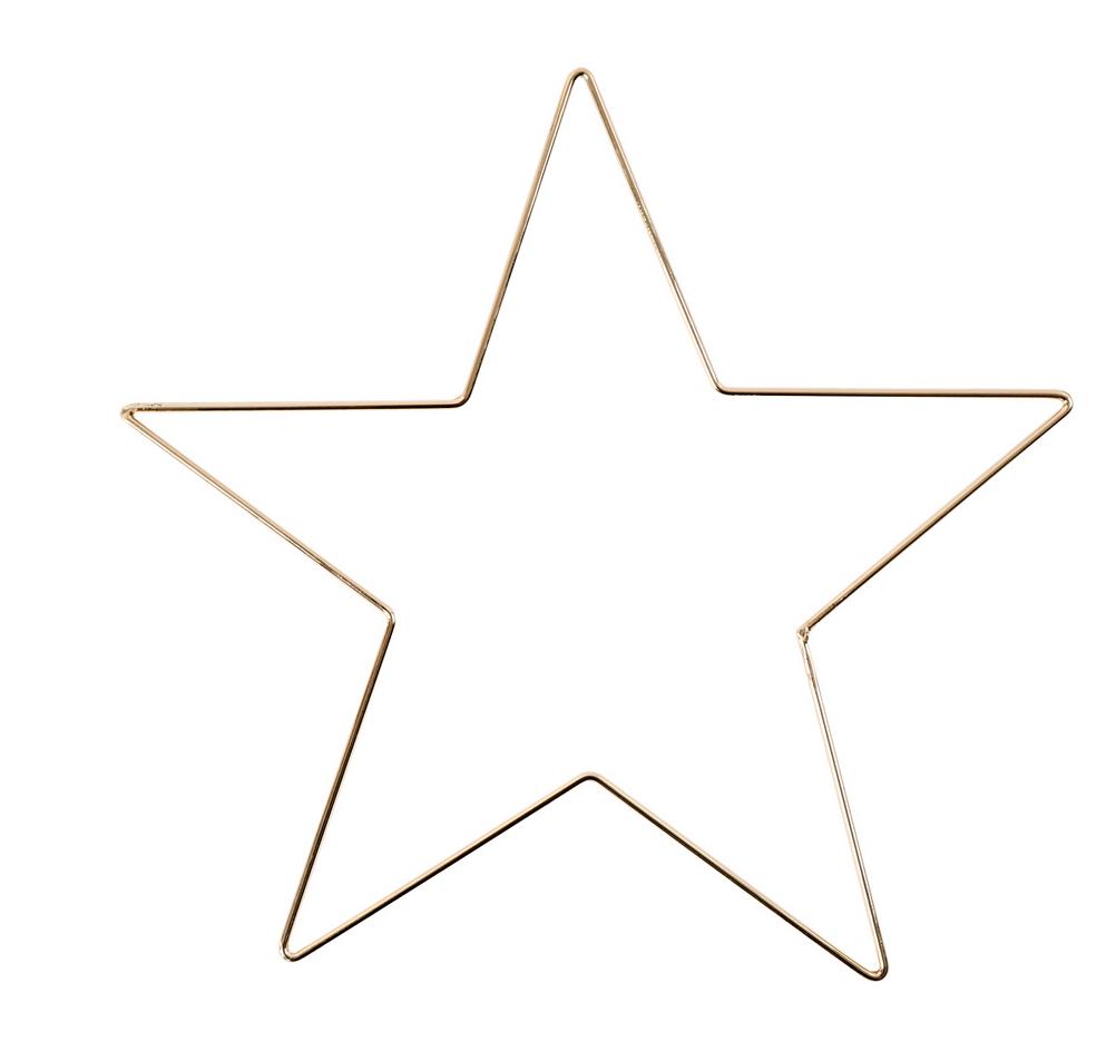 Metalen Ster Goud XS-1