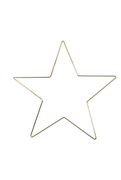 Metalen Ster Goud M