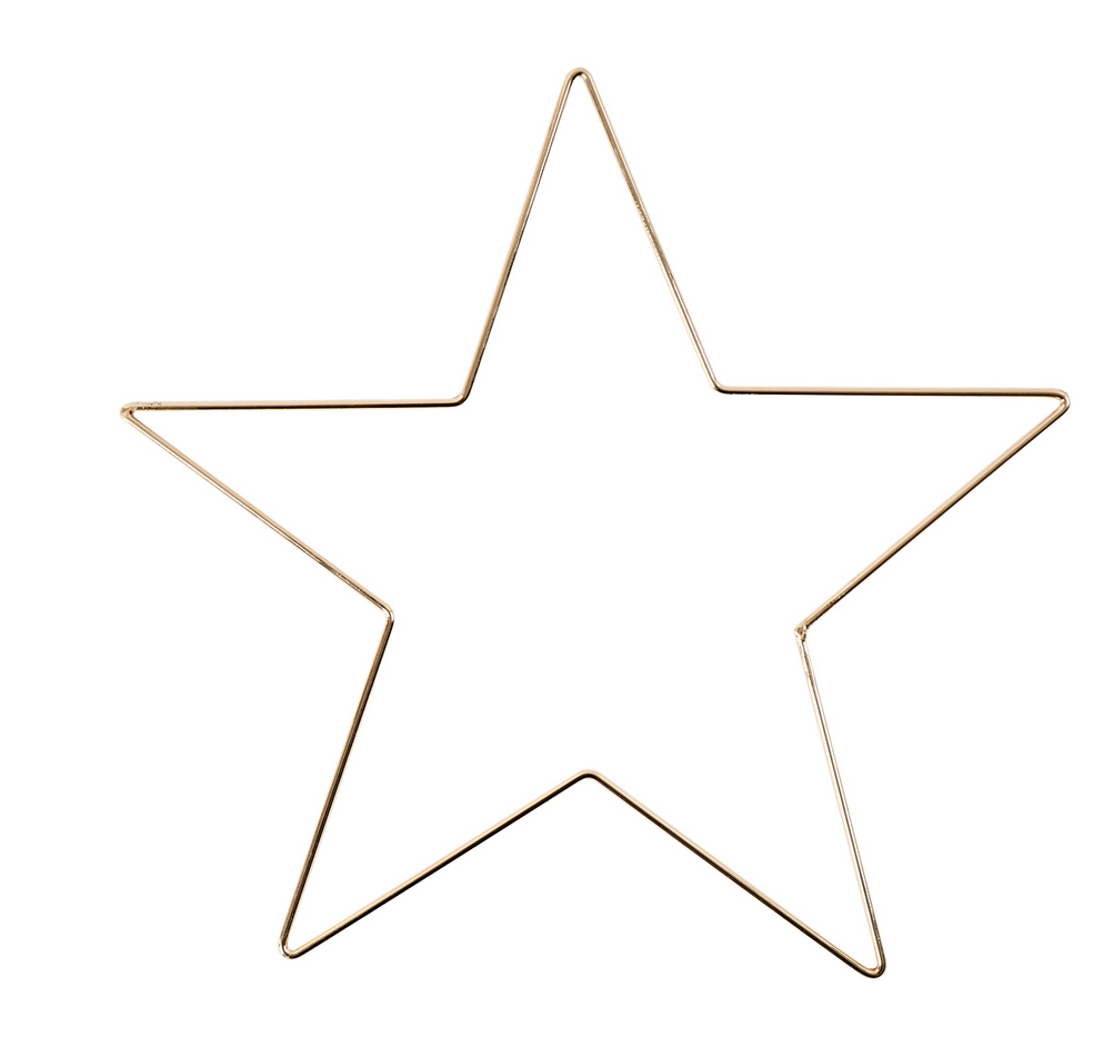 Metalen Ster Goud M-1