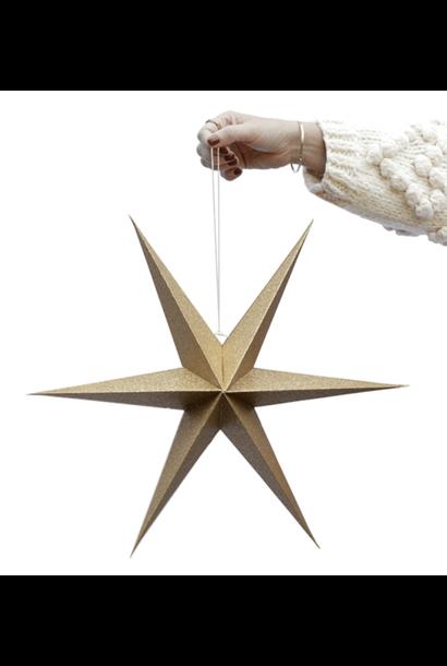 Set of Golden Decoration Stars