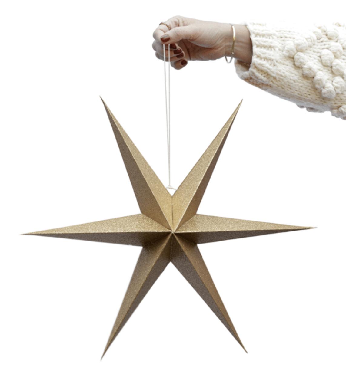 Set Gouden Decoratie Sterren - Delight Department-1