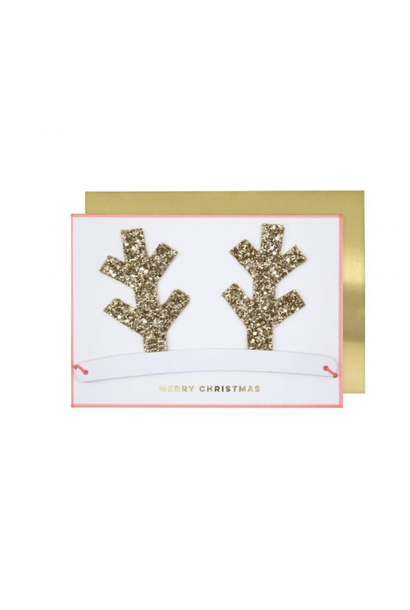 Antlers Christmas Crown Card