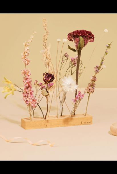 Holder With Flowers - Pink Melange