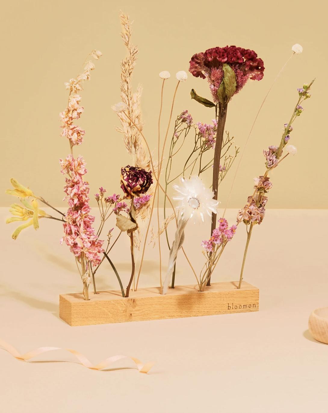 Houder Met Bloemen - Pink Melange-1