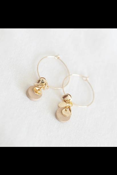Earrings Beige - Creamy Caramel 07