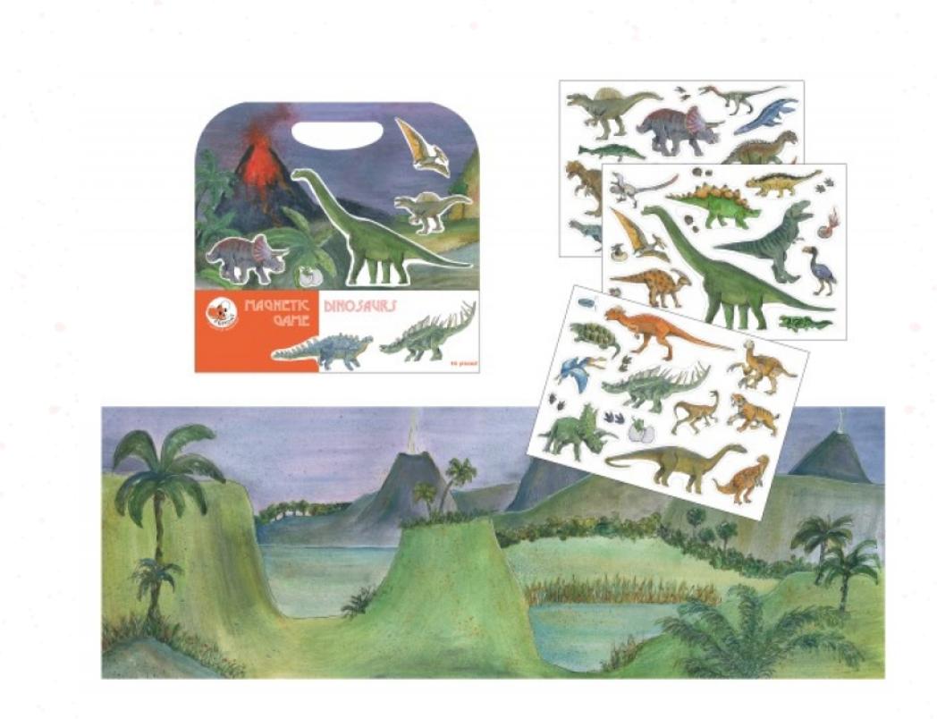 Magneetspel Dinosaurus-1