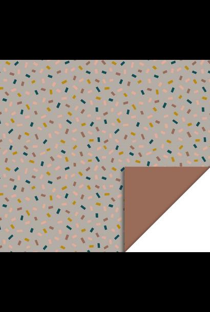 Dubbelzijdig Inpakpapier Confetti