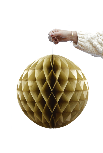 Honeycomb Ball Gold