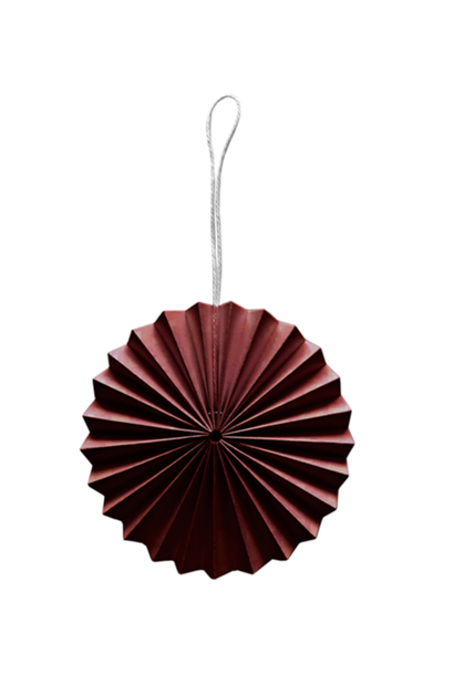 Paper Ornament - Rusty Red
