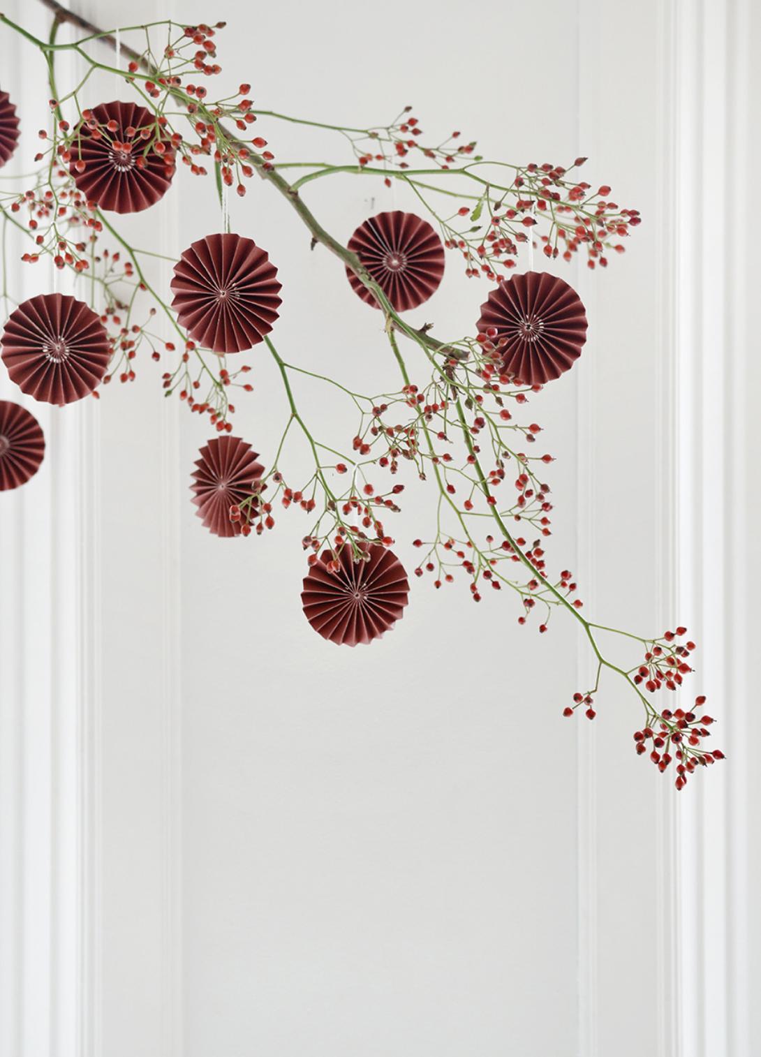 Papieren Ornament - Bordeaux-2