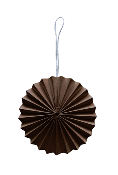 Papieren Ornament - Bruin