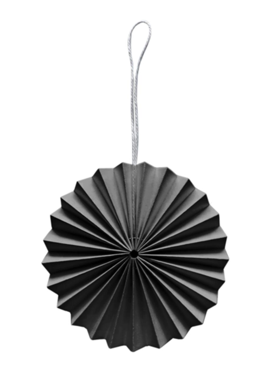 Papieren Ornament - Donkergrijs-1