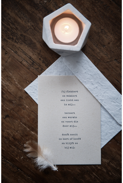 Card 'In/door/bij mij'
