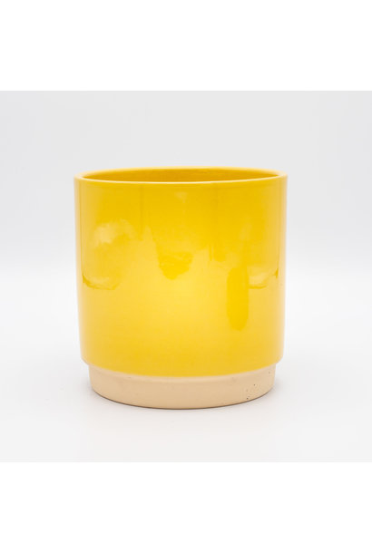 Flowerpot Yellow - Large