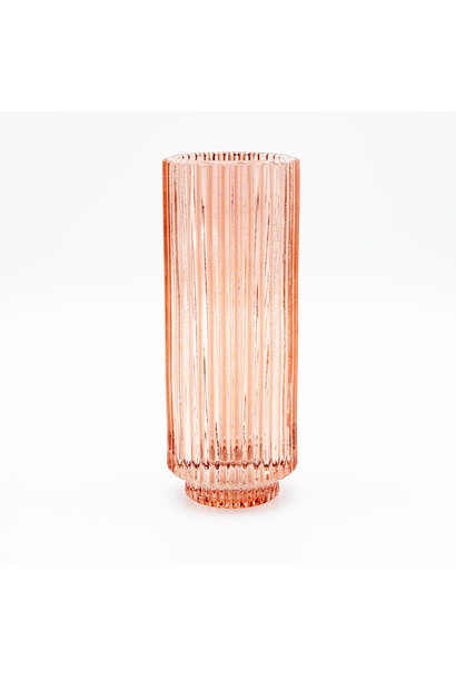 Theelichthouder Philon Glas Roze - Large