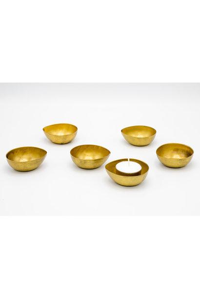 Theelichthouders Goud Set Van 6